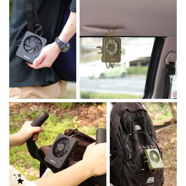 扇風機 ベビーカー ハンディ 車 USB 充電式 静音 静か 強力 卓上 キャンプ 後部座席 赤ちゃん 持ち運び おしゃれ クリップ ハンディファン ポータブル INOVA|coroya|19
