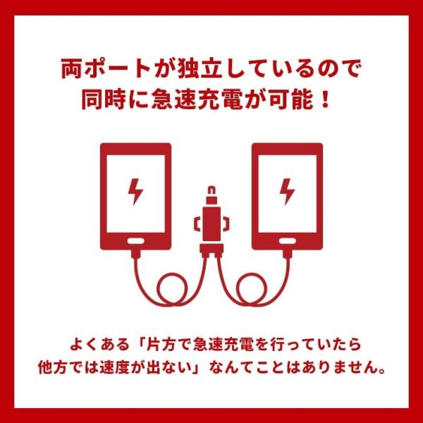 シガーソケット USB 2ポート 2連 車 充電器 iPhone Android スマホ 急速 4.8A 24V 12V 防災グッズ 車中泊 カーチャージャー タブレット 車載用品|coroya|12