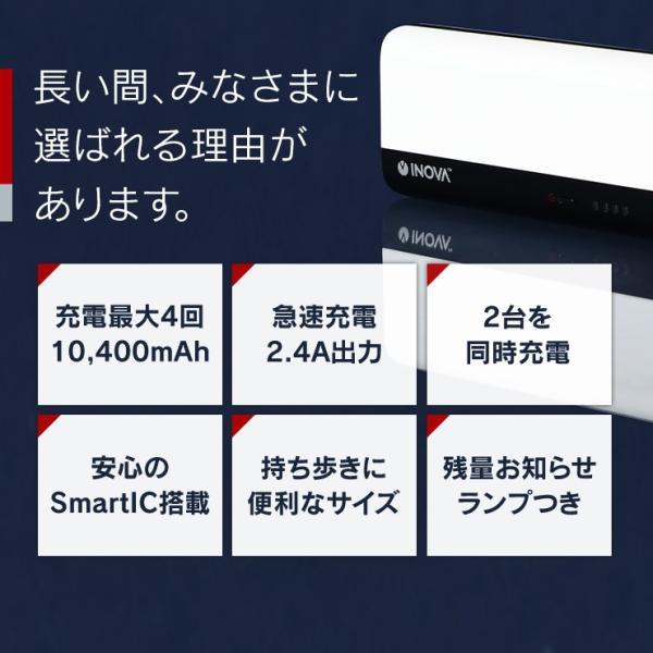 モバイルバッテリー iPhone 大容量 10400mAh 薄型 スマホ 充電器 アンドロイド PSEマーク付 かわいい 携帯 持ち運び 急速 防災グッズ アウトレット INOVA|coroya|06