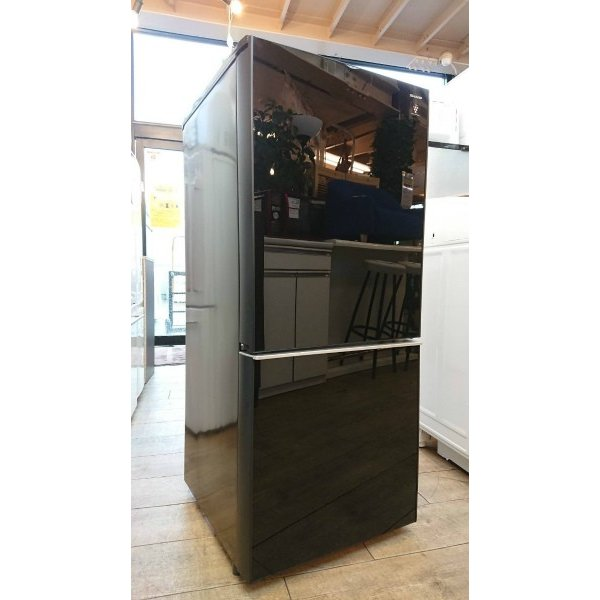 SHARP(シャープ)/ノンフロン冷凍冷蔵庫 SJ-GD14C-B 2ドア 2017年式  一人暮らしサイズ 黒 correr