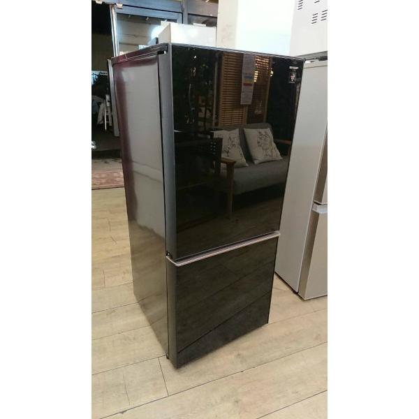 SHARP(シャープ)/ノンフロン冷凍冷蔵庫 SJ-GD14D-B 2ドア 2018年式  一人暮らしサイズ 黒 correr