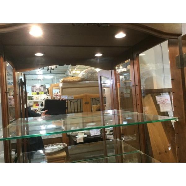 maruni(マルニ木工)/フランドルハウスシリーズ飾り棚 照明付き 引き取り限定(一部地域配送可能)|correr|08