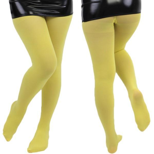無地カラータイツ80デニールイエローコスプレ可愛いストッキングタイツガーターベルトセクシーハロウィンイベント余興仮装大人コスチュ