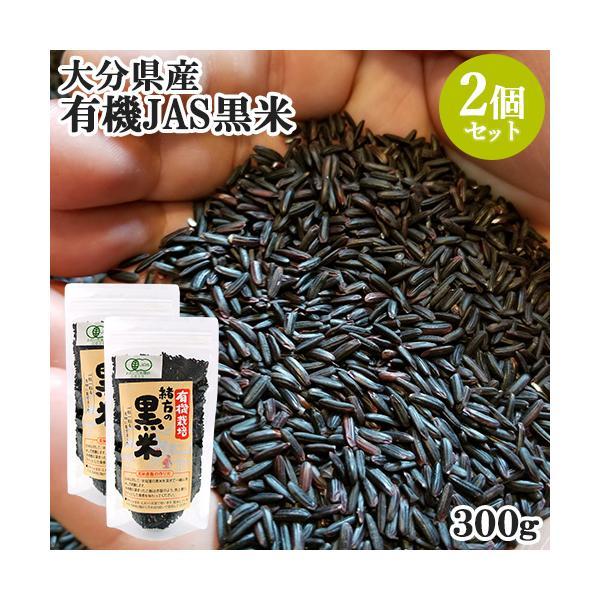 大分県産 無農薬 化学肥料不使用 有機栽培 緒方の黒米 300g×2個セット 古代米 ウジャマー農場