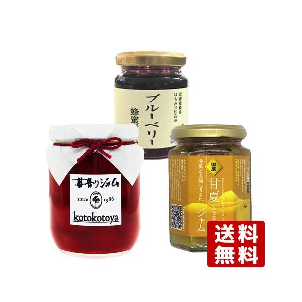 【大分県産】 ジャム3種セット ブルーベリーハチミツ&イチゴ&甘夏【送料無料】