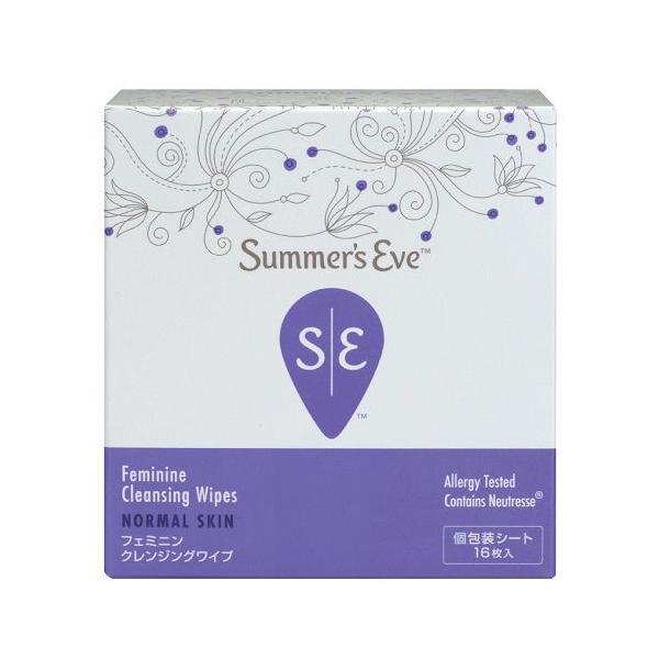 Summer's Eve(サマーズイブ) サマーズイブ Summer's Eve フェミニンクレンジングワイプ ノーマルスキン 16枚の画像