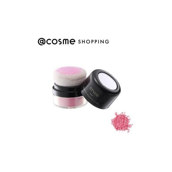 エトヴォス ETVOS ポンポンミネラルチーク 本体 【ピンクブルーム】透明感のある青味ピンク 2g