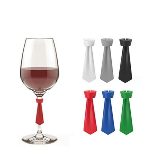 シリコン製 グラスマーカー ネクタイ(TR0101)キッチン、台所用品