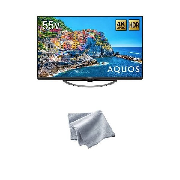 シャープ 55V型 4K対応液晶テレビ AQUOS HDR対応 4T-C55AJ1 (クリーニングクロス付)|cosmoszakkastore|03