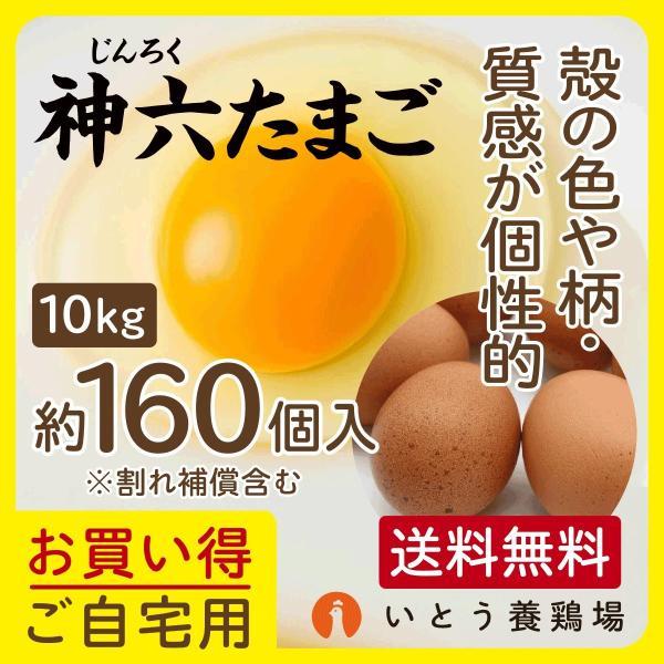 神六たまご 10kg(割れ補償含む160個)  送料無料 卵 玉子 ダイエット 健康 ギフト ご贈答品 熨斗あり