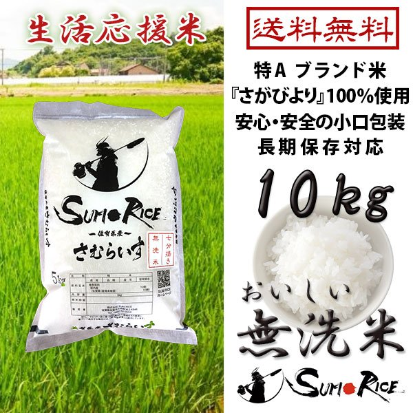 お米 10kg さむらいす 送料無料 国内産 精米 白米 生活応援米 農家直送