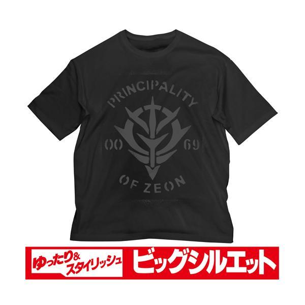 機動戦士ガンダム グッズ 公式 ガンダム ジオン ビッグシルエットTシャツ ブラック COSPA コスパ 洋服