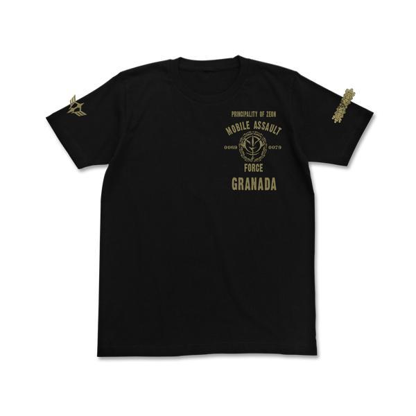 機動戦士ガンダム 公式 グッズ 服 ジオン突撃機動軍Tシャツ L XL サイズ ブラック COSPA