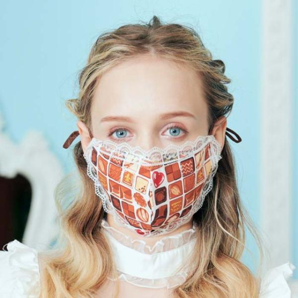 ロリィタ コスプレ レース付マスク マスク レース マスク クッキー ゴスロリ マスク 衛生品|cosplay-outlet