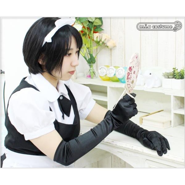 1201J▲【送料無料・即納】サテン手袋 色:黒 サイズ:F|cosplaymode|05