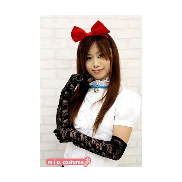 1201I▲【送料無料・即納】 レースロング手袋 色:黒 サイズ:F コスチューム コスプレ ハロウィン cosplaymode