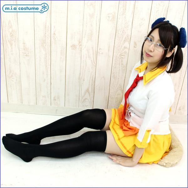 1265G◇【送料無料・即納】 ソフトナイロンオーバーニーソックス(ニーハイ) 57cm丈 色:黒 サイズ:23-25cm|cosplaymode|04