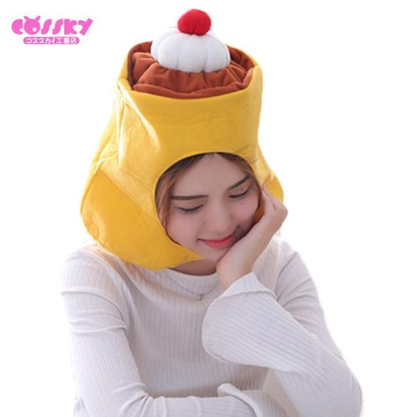 ハロウィン コスプレ プリン 帽子 かぶり物 おもしろ グッズ キャップ プレゼント  かわいい  帽子 発表会