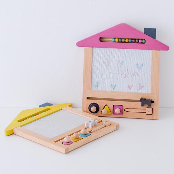 お絵かき ハウス  1歳 2歳 3歳 男の子 女の子 クリスマス プレゼントおえかき 木のおもちゃ ハウス  セット おえかきせんせい らくがき  誕生日 送料無料|cotoha-online