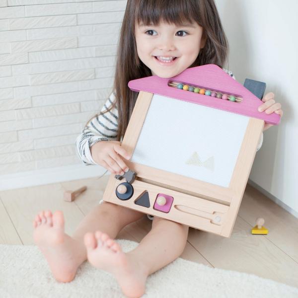 お絵かき ハウス  1歳 2歳 3歳 男の子 女の子 クリスマス プレゼントおえかき 木のおもちゃ ハウス  セット おえかきせんせい らくがき  誕生日 送料無料|cotoha-online|02