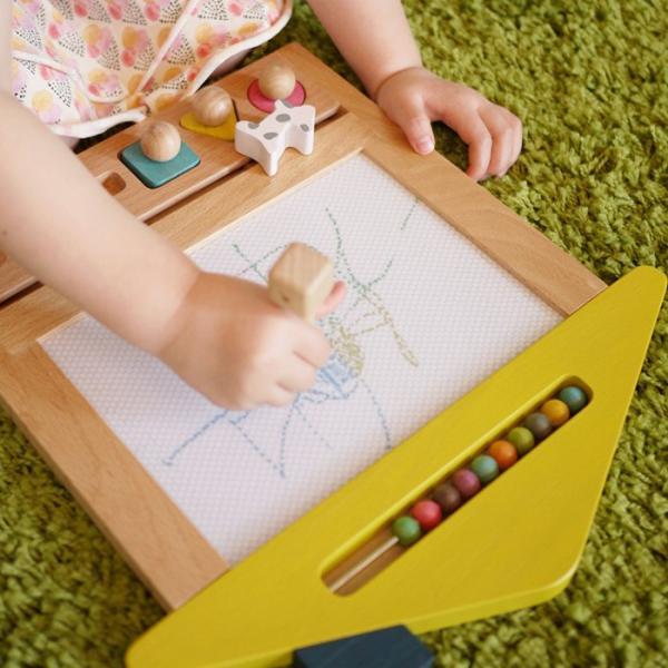 お絵かき ハウス  1歳 2歳 3歳 男の子 女の子 クリスマス プレゼントおえかき 木のおもちゃ ハウス  セット おえかきせんせい らくがき  誕生日 送料無料|cotoha-online|07