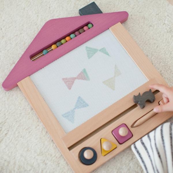 お絵かき ハウス  1歳 2歳 3歳 男の子 女の子 クリスマス プレゼントおえかき 木のおもちゃ ハウス  セット おえかきせんせい らくがき  誕生日 送料無料|cotoha-online|08