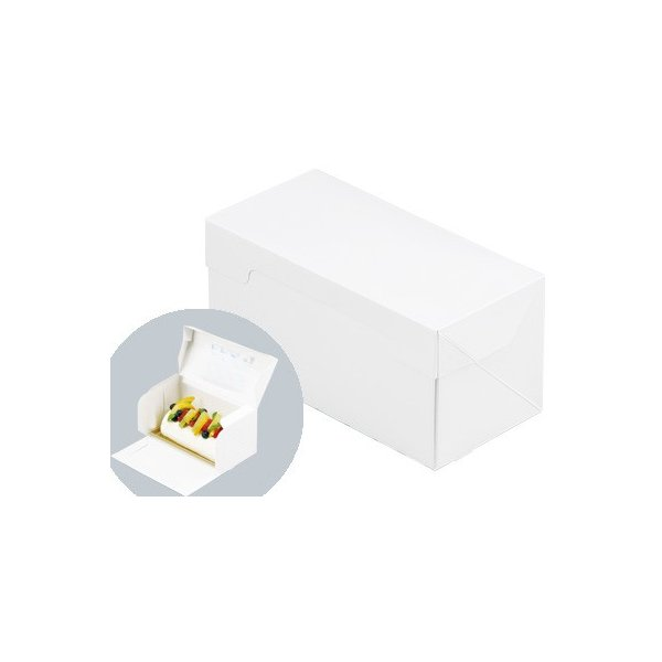 PCロールケーキポケット函 ホワイト(トレーなし)