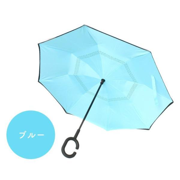 さかさ傘 ブルー