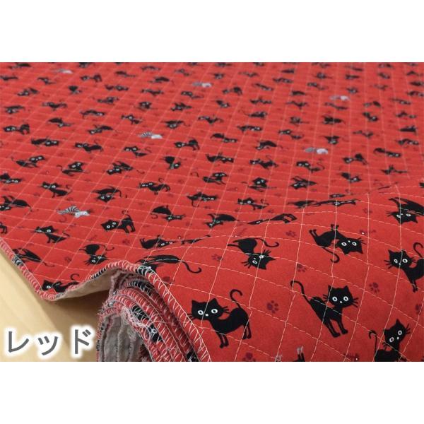 猫柄 キルティング生地 猫 キルト 布 子供 クロネコとトラネコ ねこ 安い 赤 白 布地 こども 動物 手芸 入園入学|cottonhouse-cecile|04