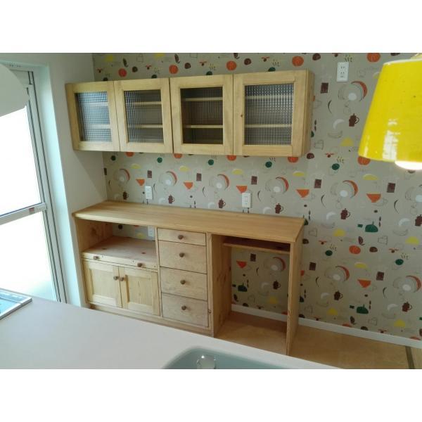 受注製作キッチンカウンター&吊り戸棚