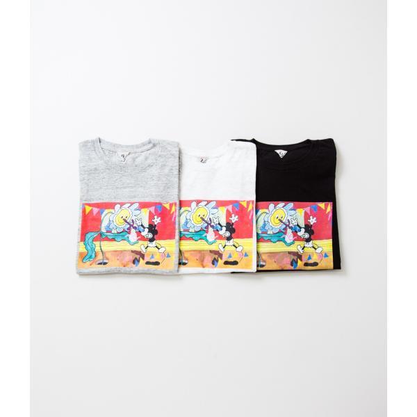 "FilMelange フィルメランジェ【Mickey 90th Anniversary T-Shirt ""GIFT""】 coupy2 02"