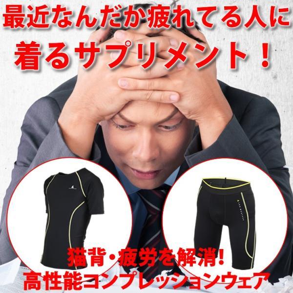 コンプレッションインナー メンズ ウェア シャツ タイツ 半袖 上下 セット UVカット ラドウェザー LAD WEATHER|courage