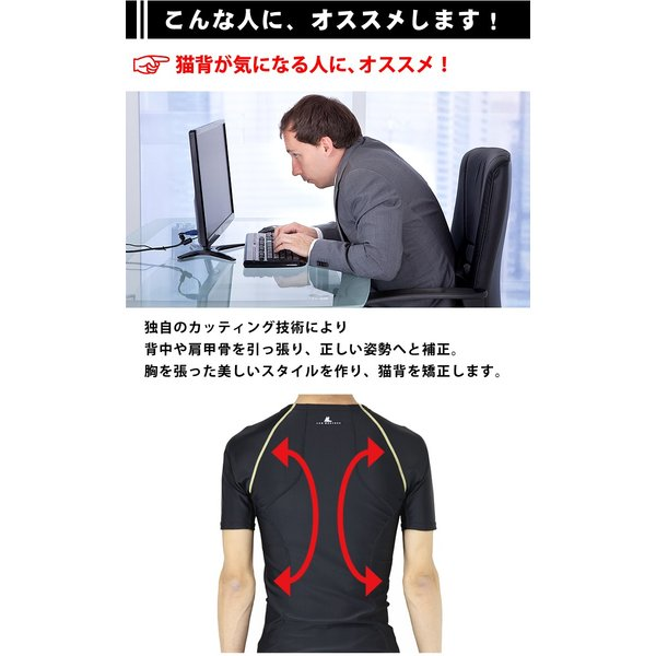 コンプレッションインナー メンズ ウェア シャツ タイツ 半袖 上下 セット UVカット ラドウェザー LAD WEATHER|courage|02