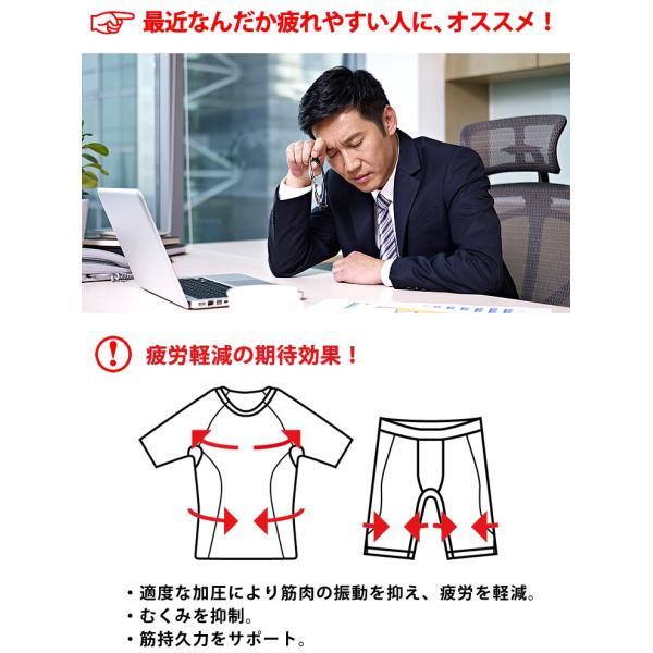 コンプレッションインナー メンズ ウェア シャツ タイツ 半袖 上下 セット UVカット ラドウェザー LAD WEATHER|courage|03