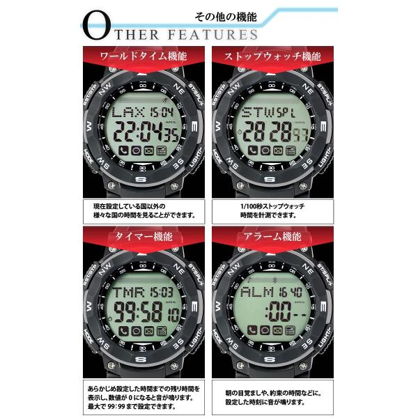 スマートウォッチ 腕時計 メンズ デジタルウォッチ iPhone アンドロイド 対応|courage|06