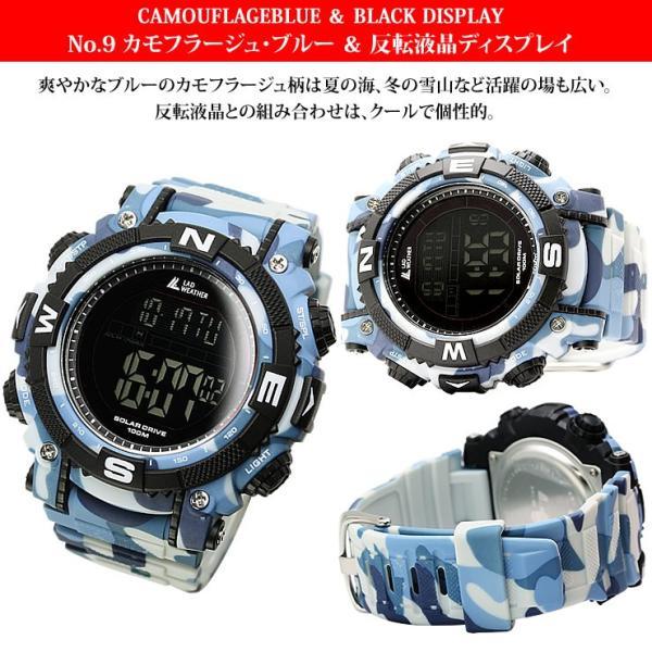 腕時計 メンズ パワー・ソーラー搭載のミリタリーウォッチ デジタル|courage|11