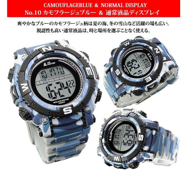 腕時計 メンズ パワー・ソーラー搭載のミリタリーウォッチ デジタル|courage|13