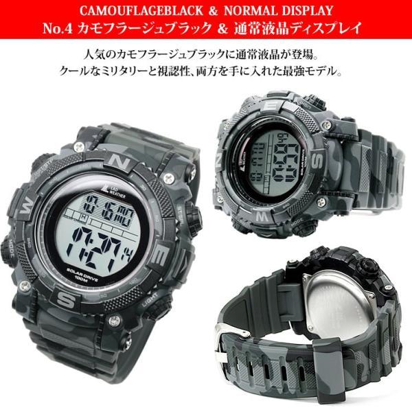 腕時計 メンズ パワー・ソーラー搭載のミリタリーウォッチ デジタル|courage|06