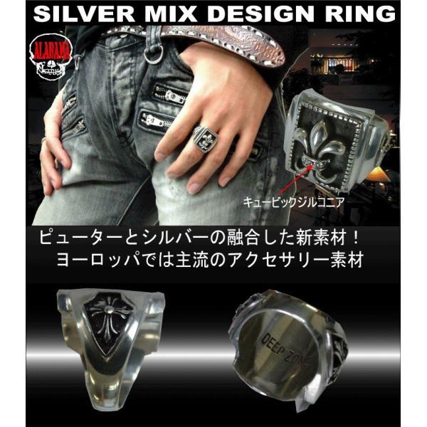 50%OFF メンズ 指輪 メンズリング シルバーミックス ピューター リリィ リング プレゼント ギフト|cowbell|03