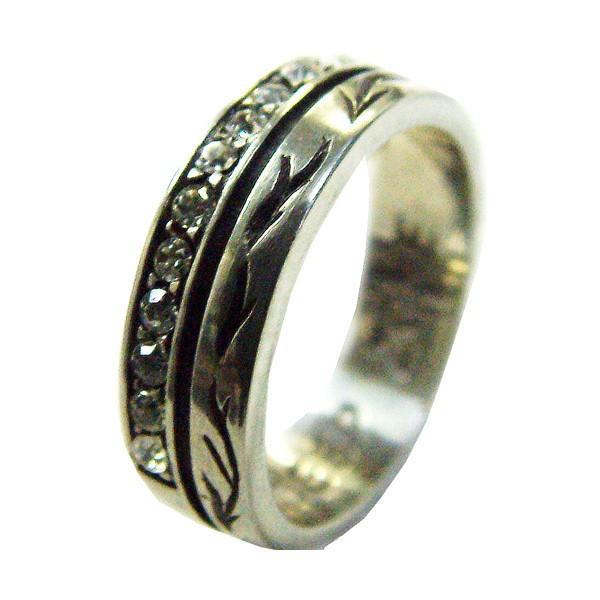 50%OFF メンズ 指輪 メンズリング シルバーミックス ジルコニア ピューター クロス リング プレゼント ギフト|cowbell