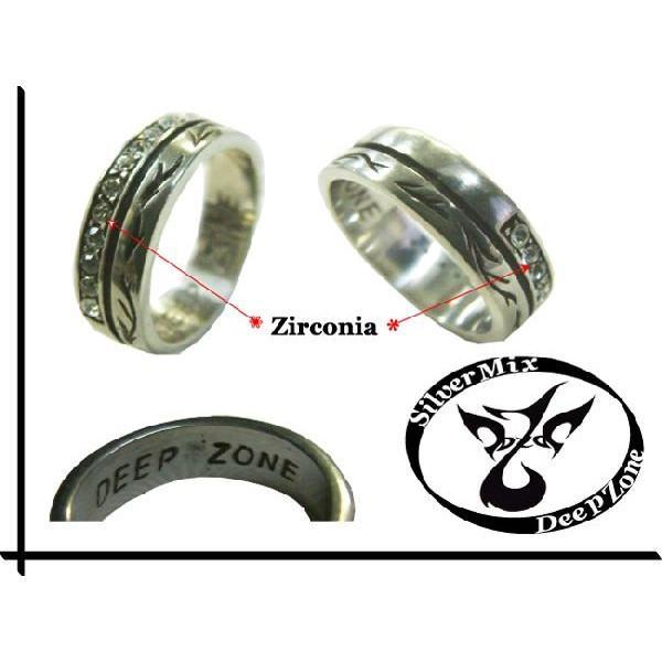 50%OFF メンズ 指輪 メンズリング シルバーミックス ジルコニア ピューター クロス リング プレゼント ギフト|cowbell|02