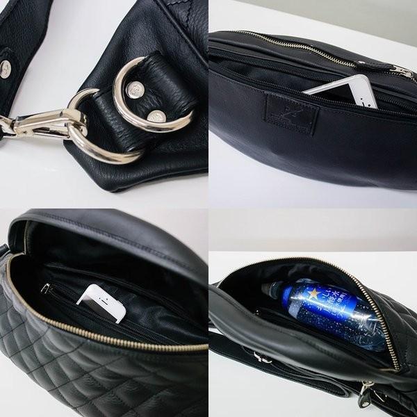 ボディバッグ メンズ 本革 レザー キルティング オイルレザー 半月型 オイルシュリンク レザー プレゼント ギフト|cowbell|10