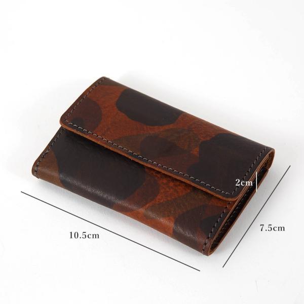 カードケース 名刺入れ レディース メンズ イタリアンレザー 日本製 国産 カモフラ カモフラージュ柄 ミリタリー 迷彩 カードホルダー プレゼント ギフト|cowbell|10