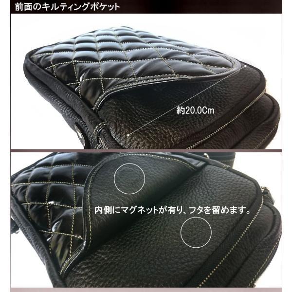 ショルダーバッグ メンズ 本革 レザー キルティング 大容量 日本製 DEEP ZONE ギフト|cowbell|03
