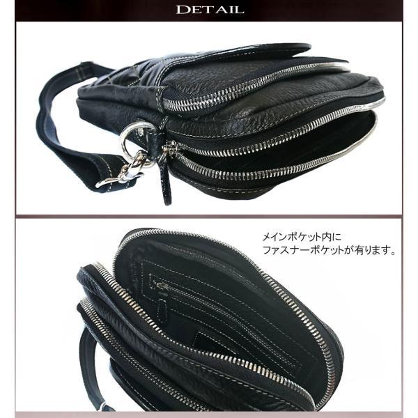 ショルダーバッグ メンズ 本革 レザー キルティング 大容量 日本製 DEEP ZONE ギフト|cowbell|05