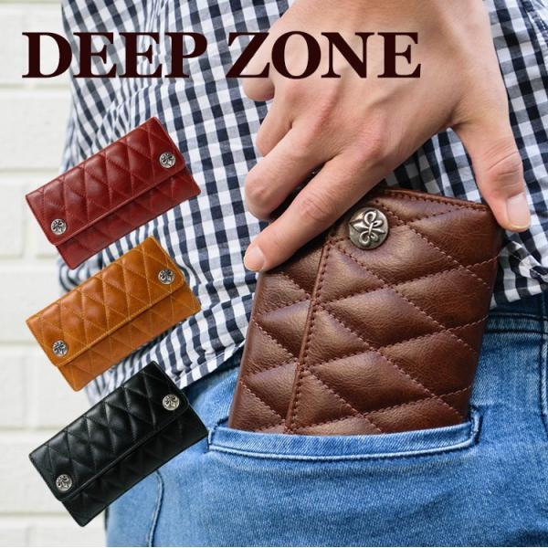 財布 カジュアル ビジネス キルティング ウォレット メンズ 本革 レザー 長財布 Deep Zone プレゼント ギフト|cowbell