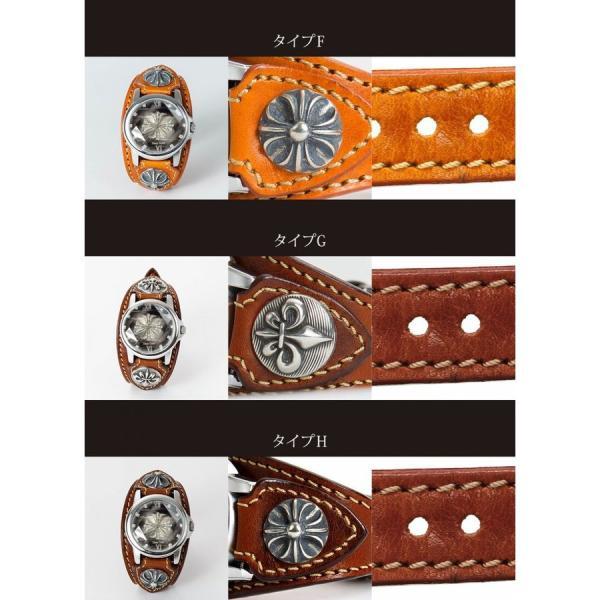 腕時計 メンズ カジュアル ビジネス ホワイトレザーブレスウォッチ 本革 レザー ベルト牛革 ジルコニアクロス ホワイトメタルコンチョ プレゼント|cowbell|04