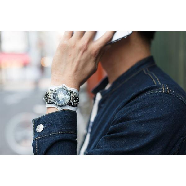 腕時計 ブレスウォッチ メンズ カジュアル ビジネス ジルコニアクロス パイソンレザー スネークレザー 蛇 DEEP ZONE プレゼント ギフト cowbell 05