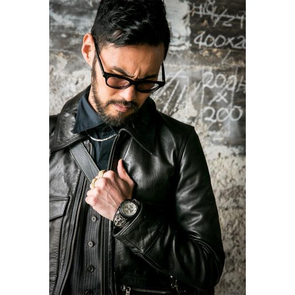 腕時計 ブレスウォッチ メンズ カジュアル ビジネス ジルコニアクロス パイソンレザー スネークレザー 蛇 DEEP ZONE プレゼント ギフト|cowbell|04