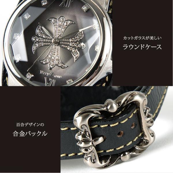 腕時計 メンズ 本革 イタリンレザー ベルト グラデーション 文字盤 コンチョ カジュアル腕時計|cowbell|02